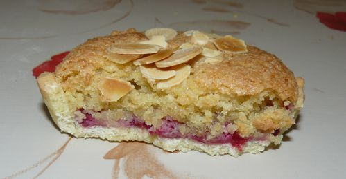 tartelettes  l'amande et  la framboise 3