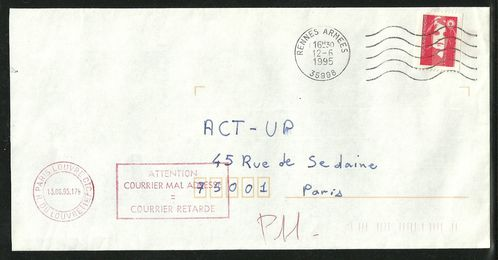 Act up courrier poste Armée