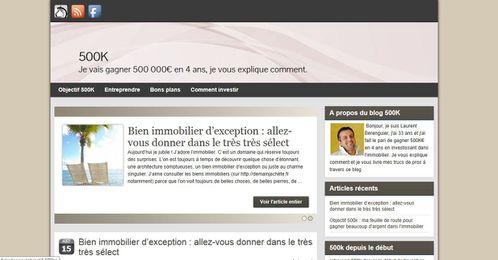 500k - screenshot wordpress