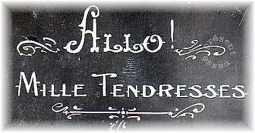 mille tendresses- non libre de droit