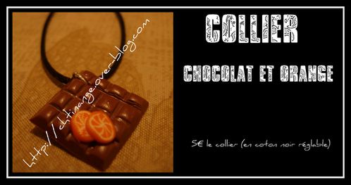 collier chocorange