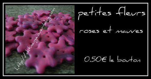 fleurs roses et mauve