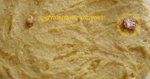 frangipane citronnée Jaclyne cuisine et gourmandise