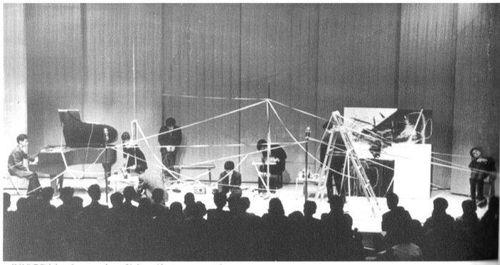 Ichiyanagi Toshi 1961 Concert Hall Sogetsu Tokyo