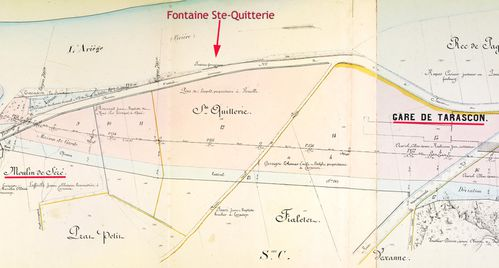 Fontaine Ste-Quitterie localisation 1873