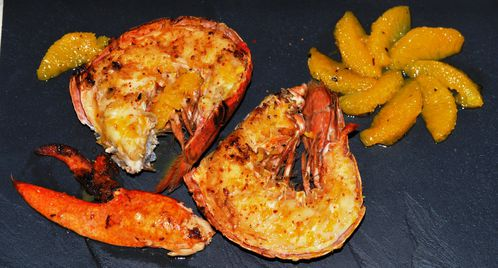Homard grill au beurre d 39 agrumes supr mes d 39 oranges mulsions - Accompagnement homard grille ...