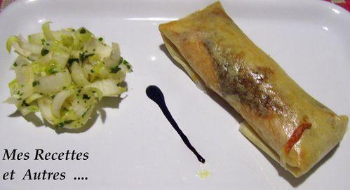 croustillant saumon poireaux