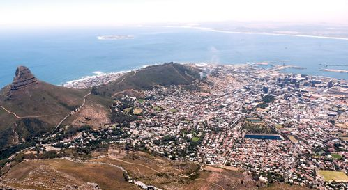 vue de Capetown de Table Mountain