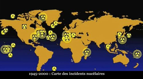 Carte accidents nucleaires