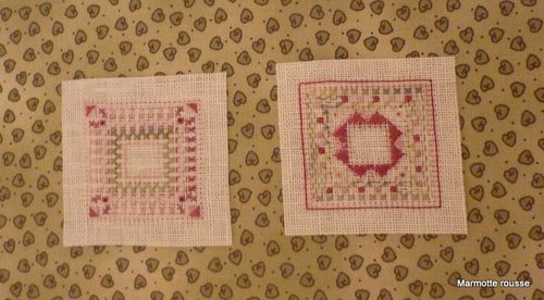 Broderie coussinet