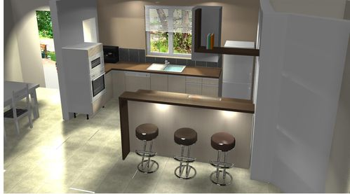 vue 3d cuisine construction dans le tarn. Black Bedroom Furniture Sets. Home Design Ideas