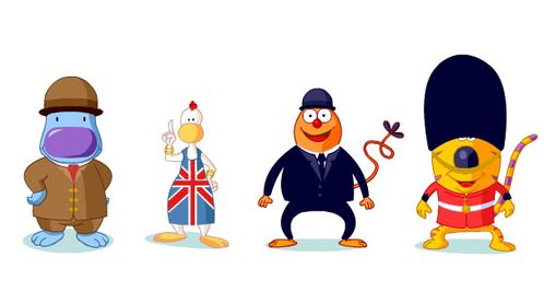 TOBOCLIC ILLUSTRATION LONDON BRIDGE JALBERT mascottes