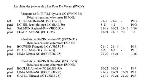 résultat tournoi Janzé le 110312