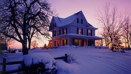 sunsets winter home houses christmas victorian wisconsin ev