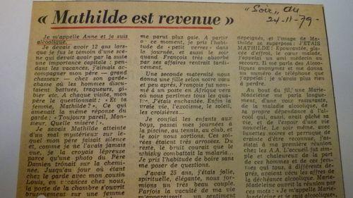 ARCHIVES BSG BRUXELLES 210 le soir 24.11.1979