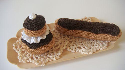 Crochet clair au chocolat la ruche id es - Glacage pour eclair au chocolat ...