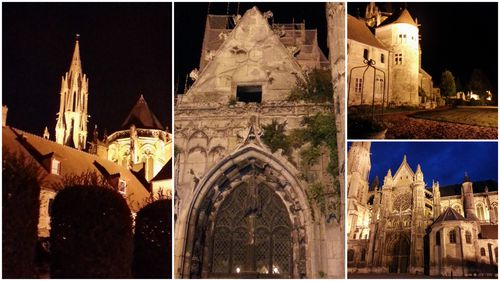 Senlis by night