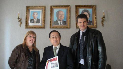 présentation à M. l'ambassadeur du Cambodge à Paris