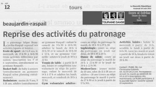 2013-08-30- ARTICLE NR TOURAINE DANSE AU PLBR