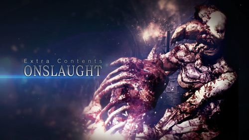 RE6 gameaddon Onslaught Title screen