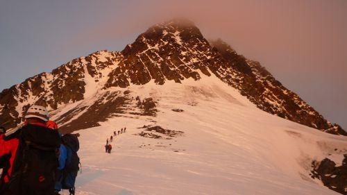 Le sommet au petit matin
