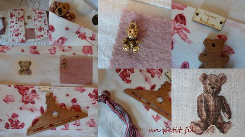 Pochette couture échange nounours