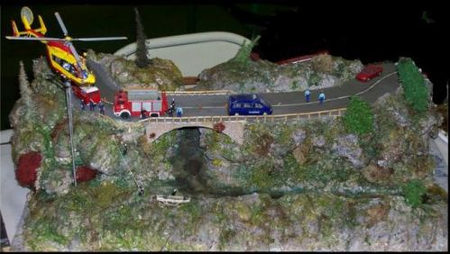 diorama accident pompiers e