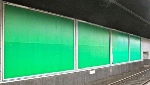 affiche verte vide de publicité 4