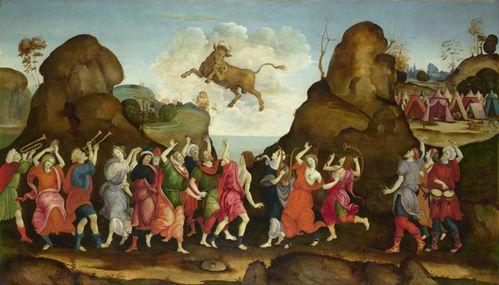Filippino Lippi – The Worship of Egyptian Bull God 01