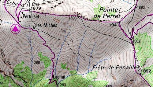 Pointe de Perret 1941m - dre dans le pentu