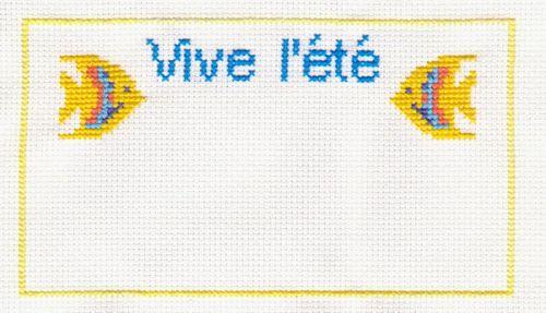 SAL vive l'été 2011 étape4 brodée