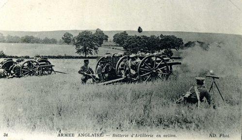 Armée anglaise. Batterie d'artillerie b