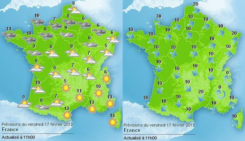 Meteo et bison fute on a march sur la une - Meteo a la carte france 3 ...