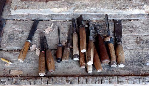 outils travail bois Gouges