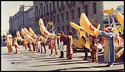 BANANA Anna, Columbus Day Banana Parade Entries in San Fran