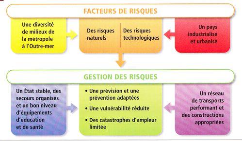 Organigramme gestion des risques en France