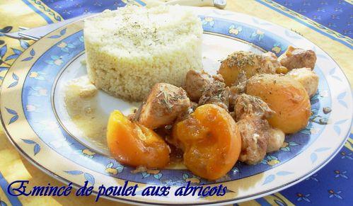 Emincé de poulet aux abricots2