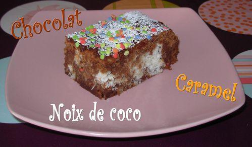 Brownie marbré chocolat-caramel-coco3