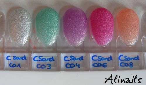 CAtrice Luxury Lacquers Sand'sation swatches