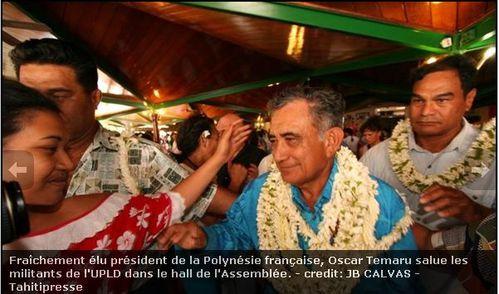 Temaru président 13 09 07