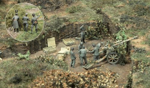 preiser diorama ho 187 army militaire