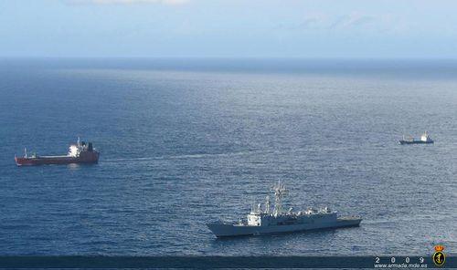 La Numancia termine sa première escorte d'un bateau du PAM