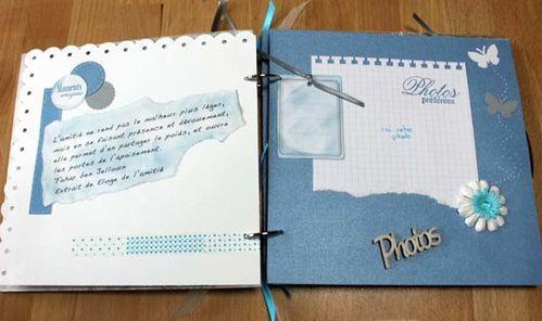 mini album amitié turquoise et gris3