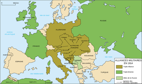 la triple entnete Europe alliances 1914-fr