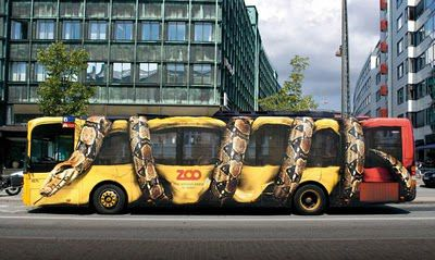 affiche bus zoo Copenhague