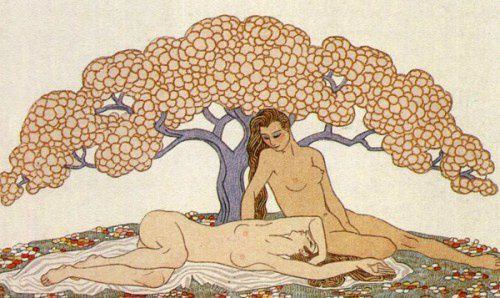 George-Barbier--1882---1932--French--Sous-l-arbre.jpg