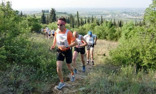 UltraTrail Soave-Bolca (6^ ed.). Oltre 300 atleti convenuti per correre quest'annio la distanza lunga, valevole come Campionato IUTA trail short: un vero record di partenti