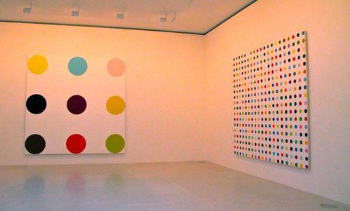 Damien Hirst spot painting Gagosian Paris 7