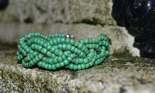 Rocailles nacre vert