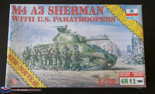 esci 8604 - M4 A3 Sherman with US Paratroopers